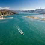 Mawddach Estuary view from air