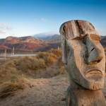 Easter Island carving on Ynys y Brawd