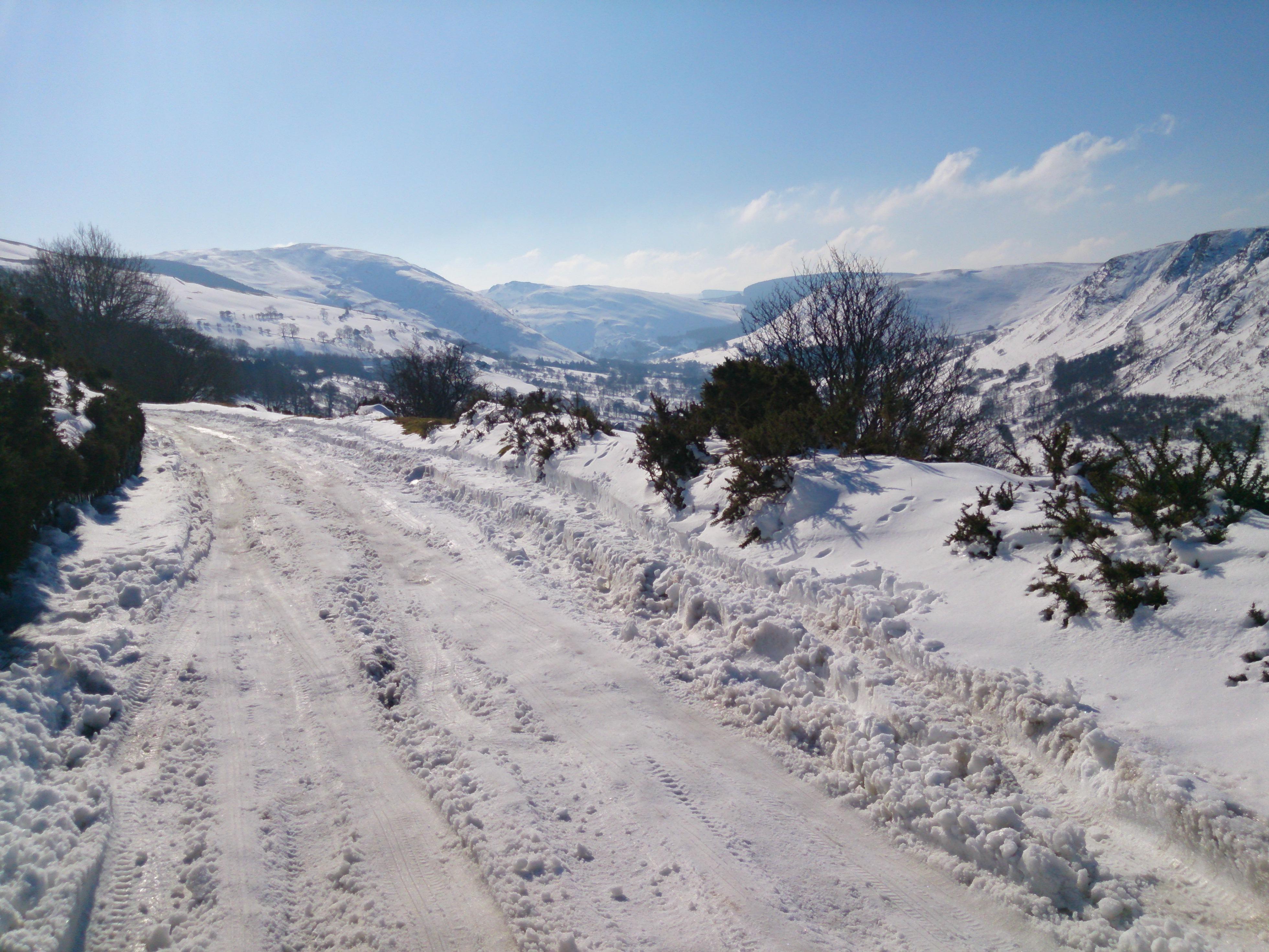 Snow on Milltir Cerrig