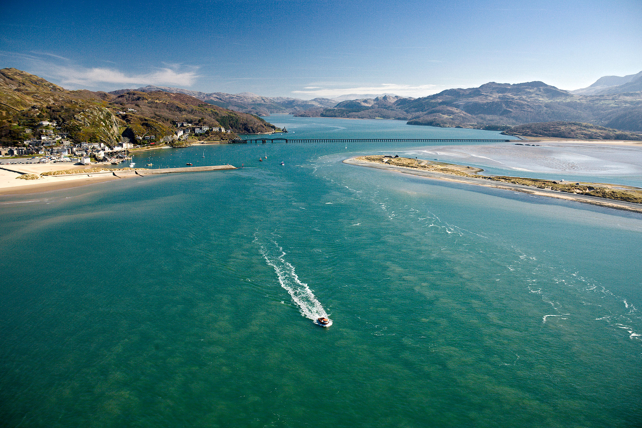 Mawddach Estuary view from air