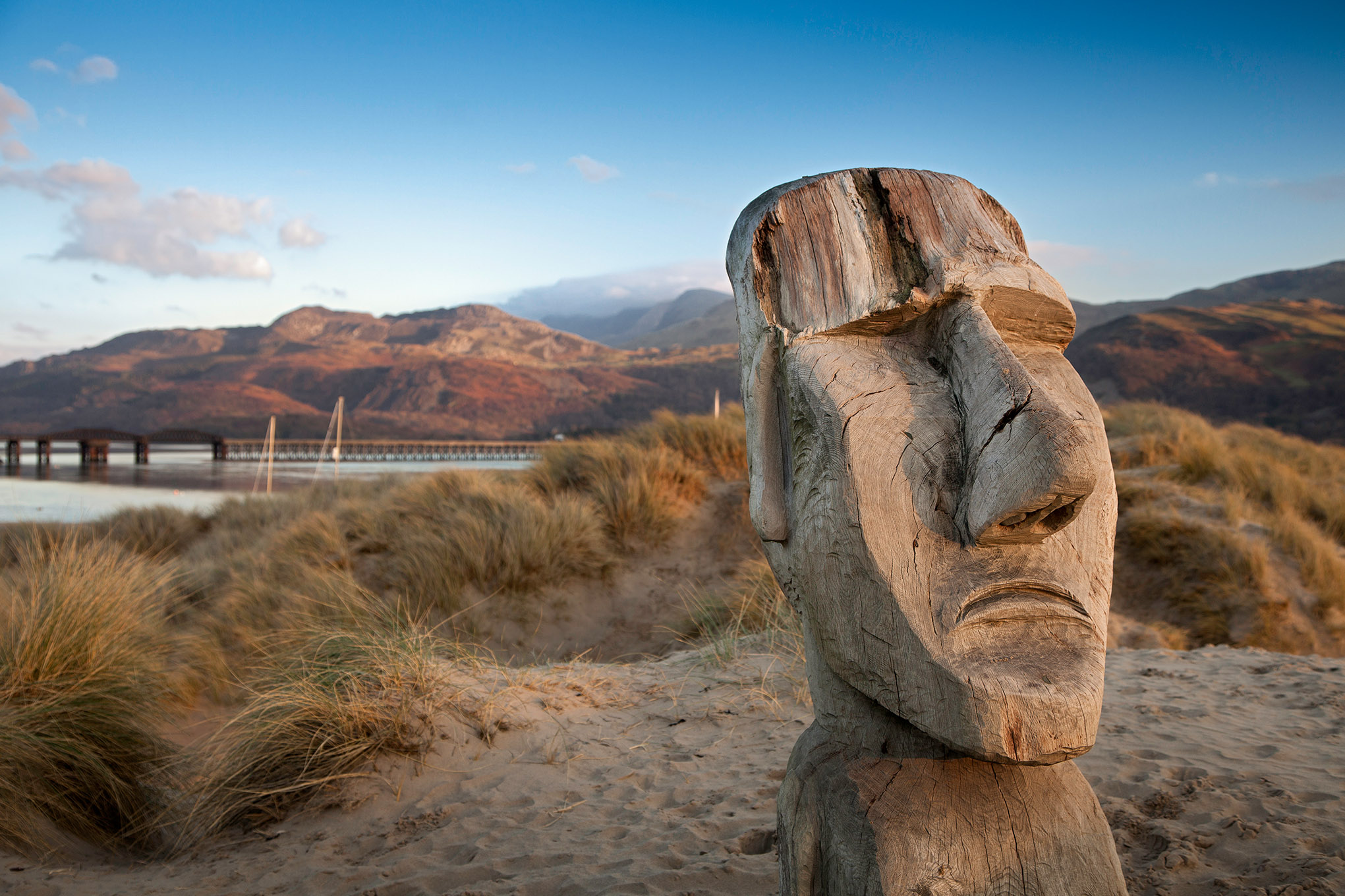 Easter Island carving on Ynys y Brawd