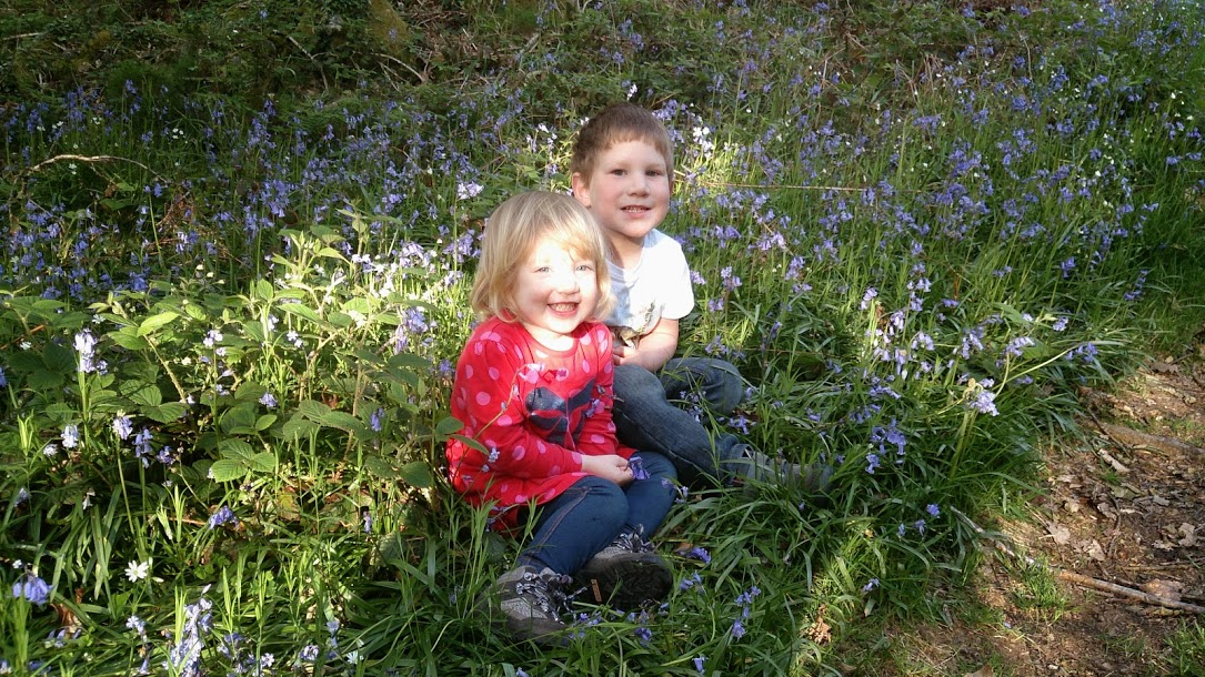 Happy in the bluebells