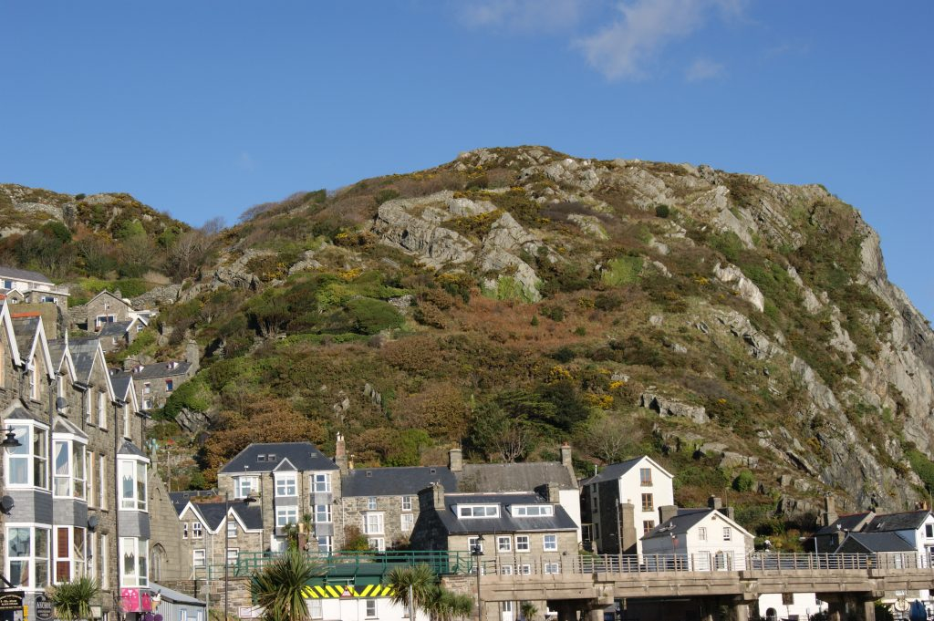 View immediately inland from Barmouth harbour